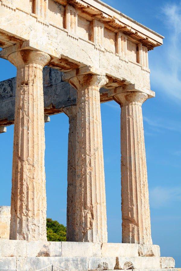 templo de Atenea Aphaia en la isla de Aegina