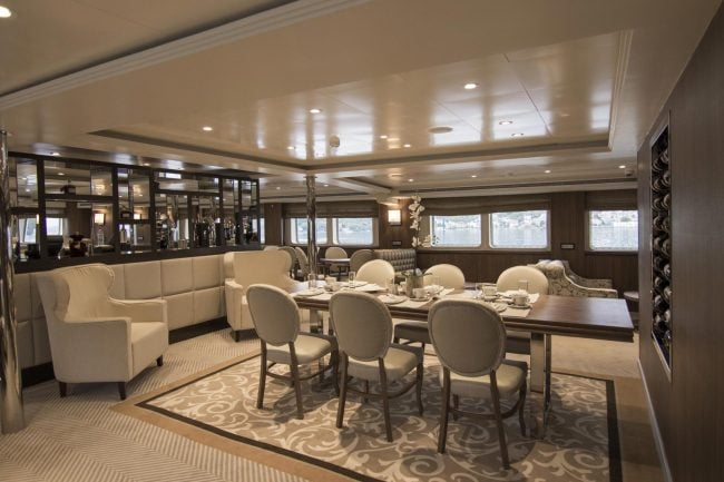 lounge for VIP Package Athens One Day Cruise